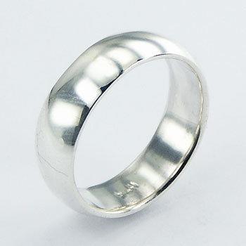Halv rund ring 7mm i 925 sterling sølv
