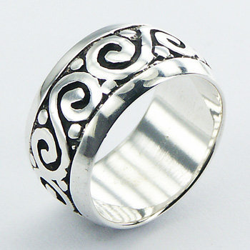 Celtic mønster ring i 925 sterling sølv