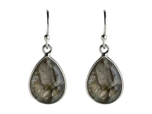 øreringe i Labradorit  925 sterling sølv