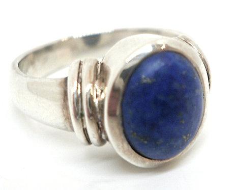 Ring i sterlingsølv med lapis lazuli (925)