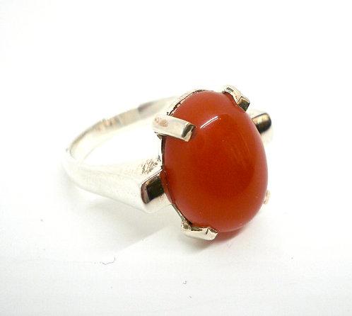Sølv Karneol Ring