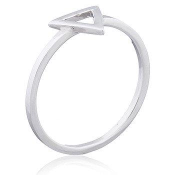 Sterling Sølv Ring 2mm åben trekant