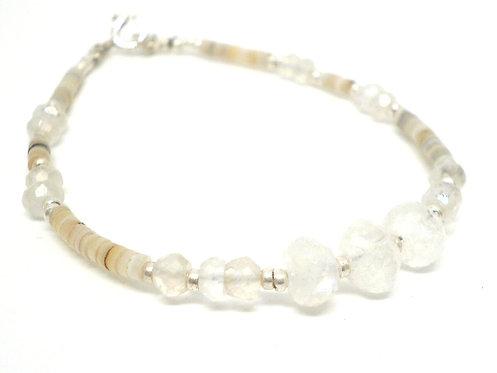 Kila Design, Armbånd med spektrolit og sterlingsølv beads (925)
