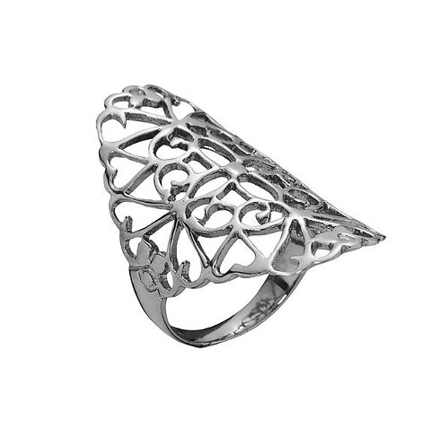 Lund Cph, Ring i rhodineret sterlingsølv, filigran (925)