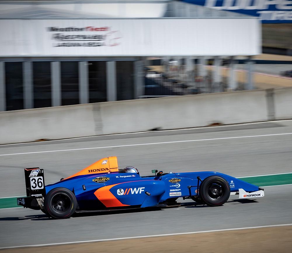 William Ferguson In His F4, Laguna Seca