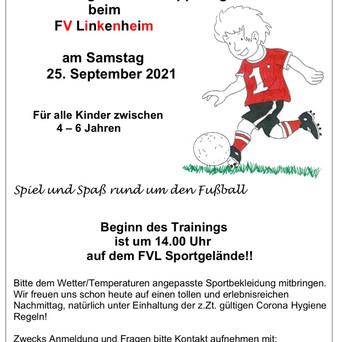 5. Kindergarten-Schnuppertag beim FV Linkenheim…