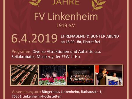 Ehrenabend 100 Jahre FV Linkenheim