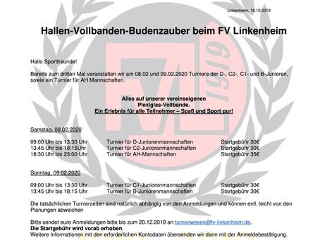 Hallen-Vollbanden-Budenzauber beim FV Linkenheim