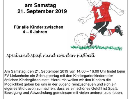 3. Kindergarten Schnuppertag beim FV Linkenheim