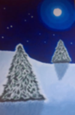 Holiday trees painting
