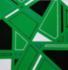 Green geometric painting