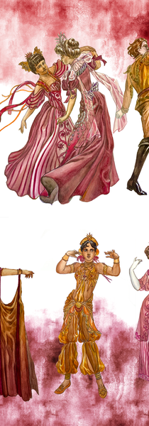 Overall Costumes in Act 2