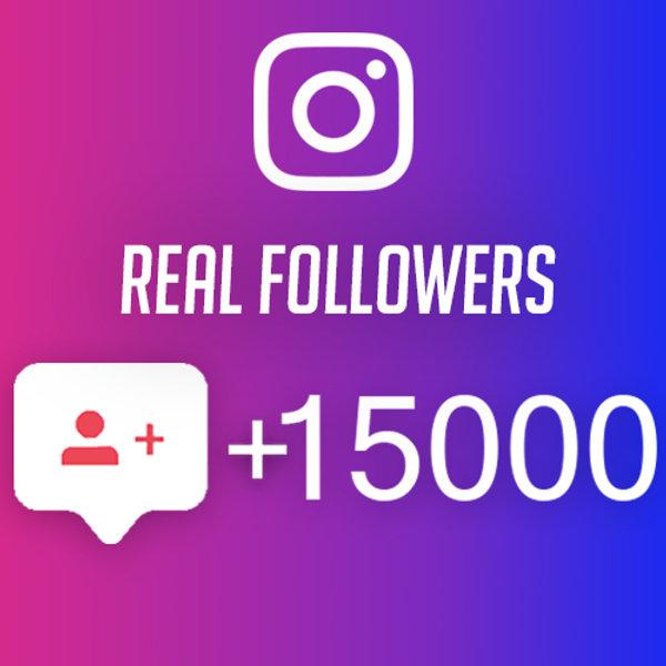 Buy Instagram Followers 15000 +1000 Free Followers