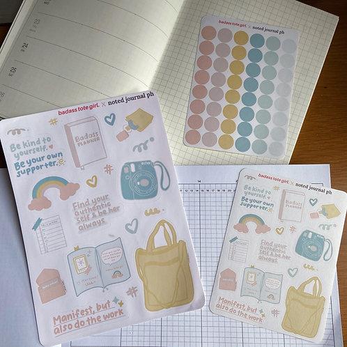 BTG x Noted Journal PH Sticker Set.