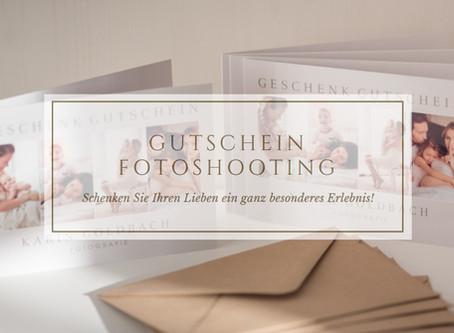 Verschenken Sie Erinnerungen… Geschenk Gutschein für ein Fotoshooting