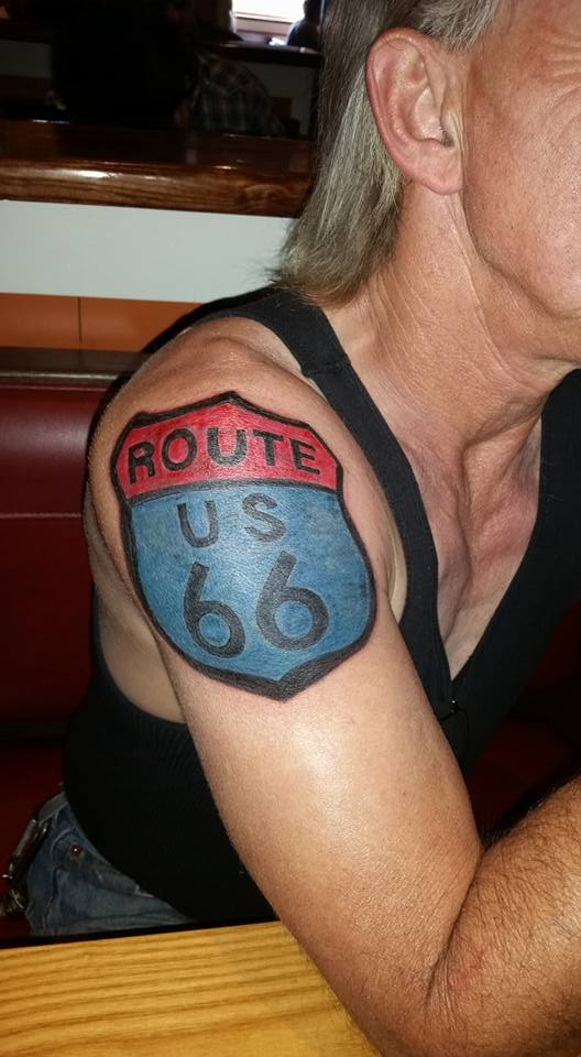 Route US 66 Tattoo done by T