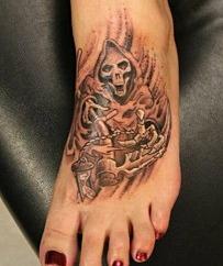 Grim Reaper tattoo done by