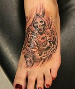 Grim Reaper tattoo done by