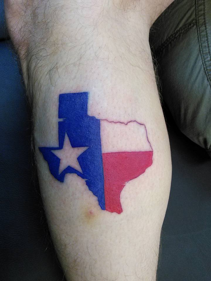 Texas Sate tattoo done by T