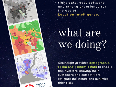 Geoinsigt brings together right DATA, easy SOFTWARE and strong EXPERINCE for the use of Location Int