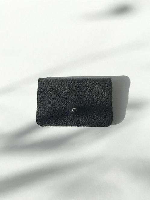 portfel S czarny groszkowy