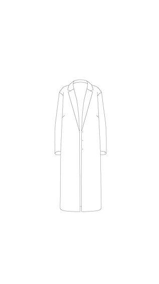 płaszcz zapinany