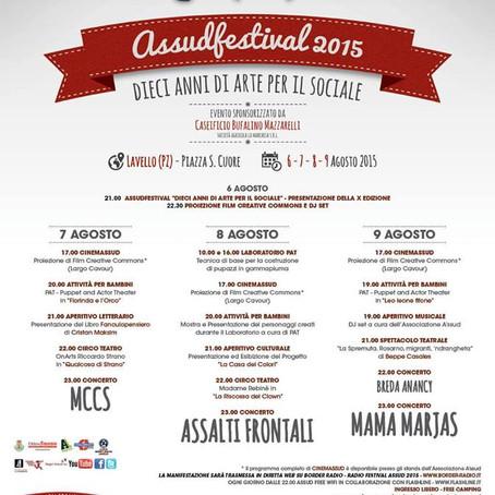 Assud Festival dal 7 al 9 agosto