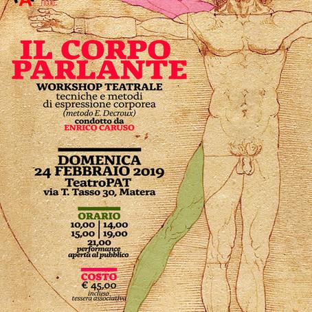 IL CORPO PARLANTE workshop di espressione corporea 24 febbraio 2019