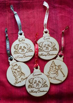 Pet Round Bauble Ornaments