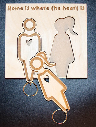 His and Hers Key ring Wall set