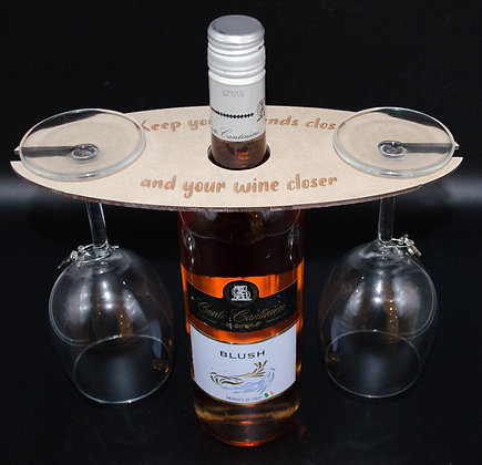 Wine Bottle Butler / Glass Holder