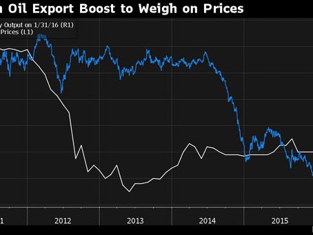 Oil Trades Near $30 as Iran Loads Cargo, China Imports Decline