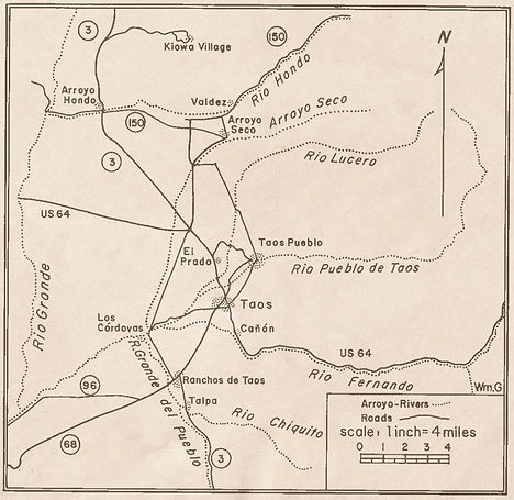 Map of Taos Valley