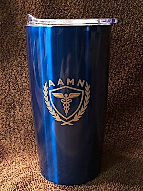 Laser-Engraved 18 oz. Travel Tumbler (Royal Blue)