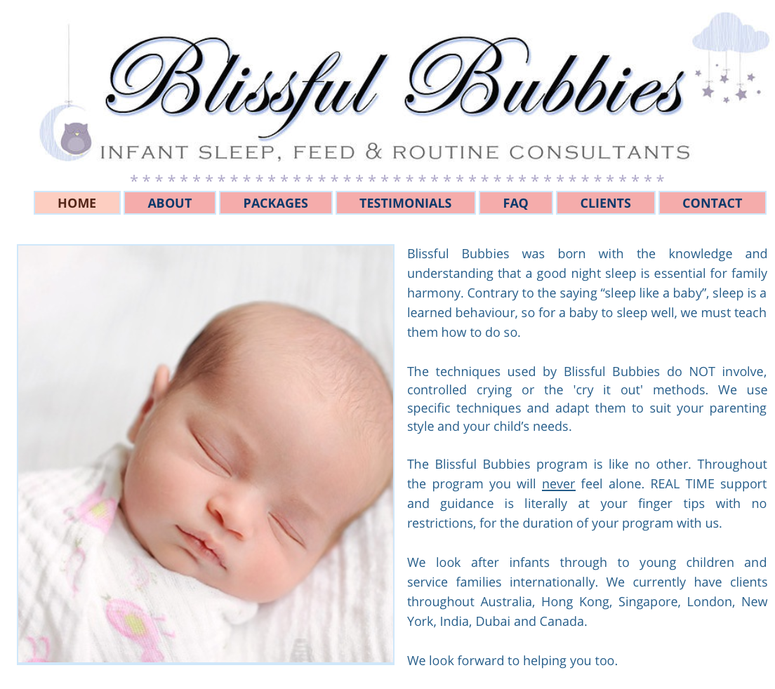 FAMILY EXPERIENCES | Blissful Bubbies, Infant Sleep, Feed