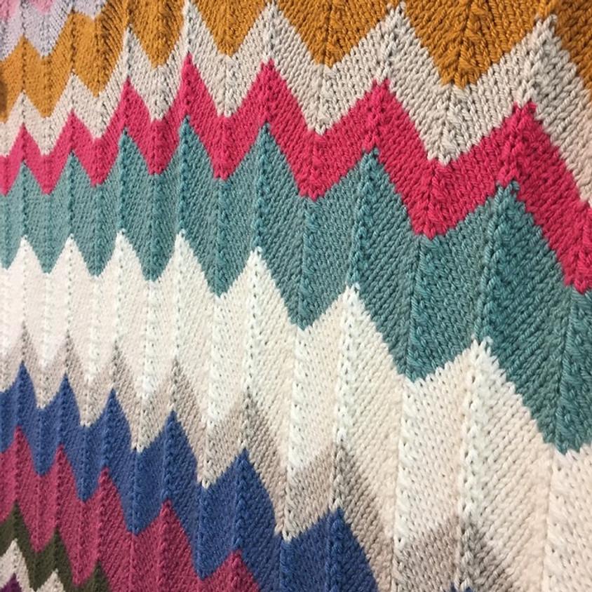 Knit Chevron Chunky Blanket