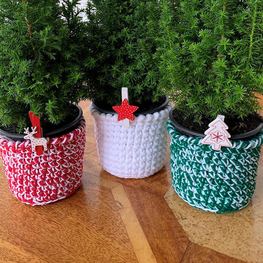 Crochet Christmas Baskets
