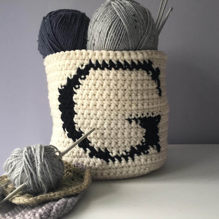 An Introduction to Intarsia Crochet and Monogram Baskets