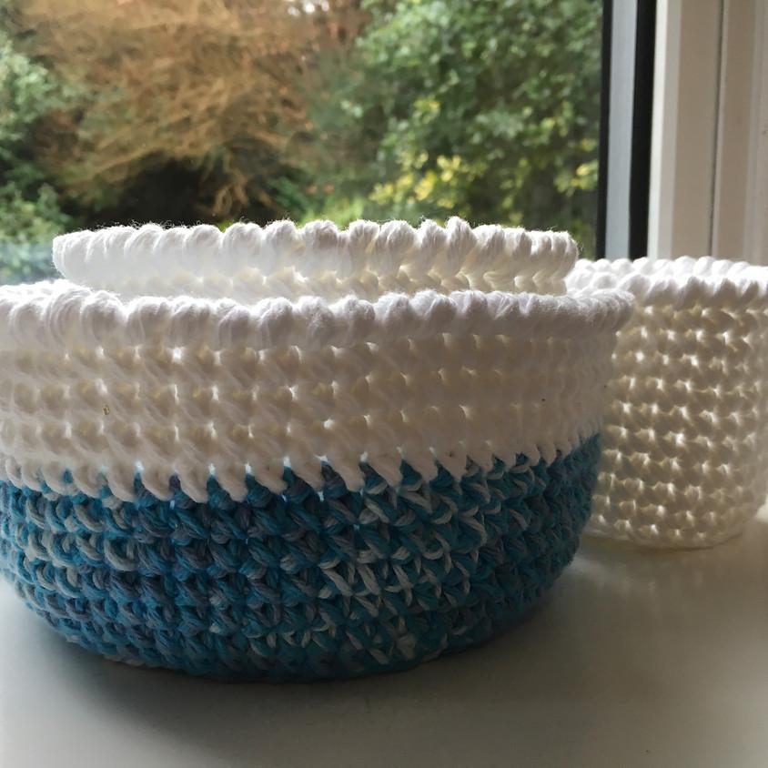 Crochet A Nest Of Baskets