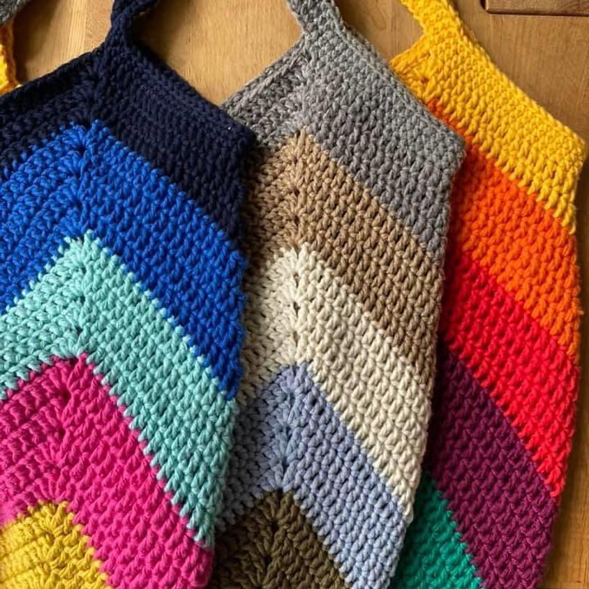 !!Online Class!! Crochet a Chevron Shopping Bag