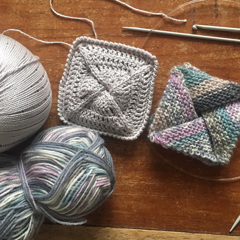 Knit and Crochet Origami Purses