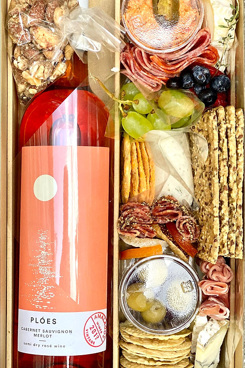 Fresh Cheese Box/Greek Wine