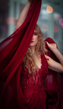 Rode jurk dansen