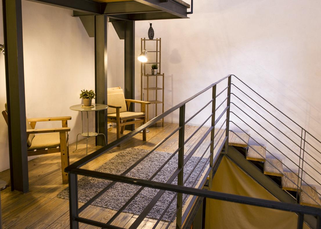 second floor & steps to ground floor
