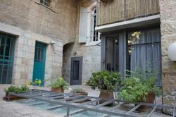 Courtyard and entrance door