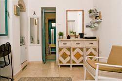kitchenette & bathroom door