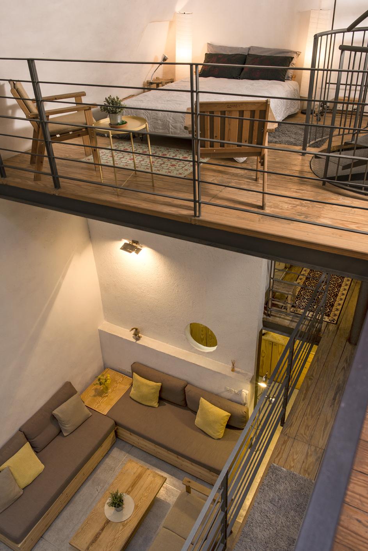 view on three floors