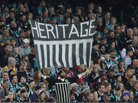 Port Adelaide post-match jumper change was a thing of beauty
