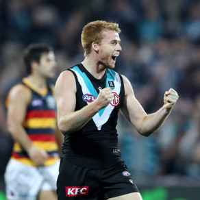 No fuss and limited fanfare, Willem Drew is slowly making a name for himself at Port Adelaide