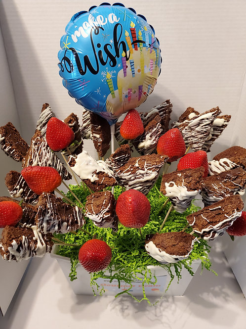 BROWNIE BOUQUET (PICTURED IS 2 DOZEN) -Delivery service only